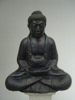 Boeddha zit 2 handen gevouwen – brons