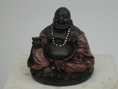 Lachende Boeddha bolle buik – roodzwart