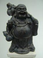 Boeddha met stokzak – brons